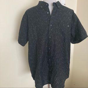 Billabong NEW Casual Button Down Shirt Black L